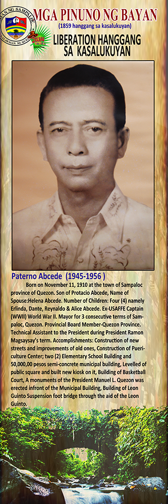 Paterno Abcede (1945-1956)